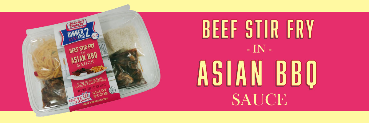 Beef stir fry in asian bbq sauce