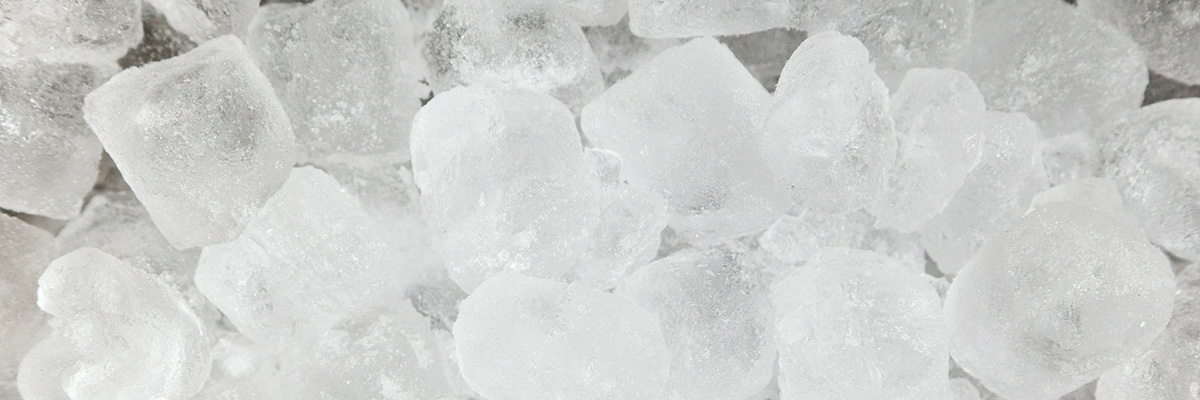 A close up shot of ice cubes