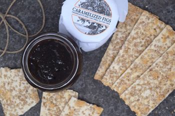 Fig jam and crackers
