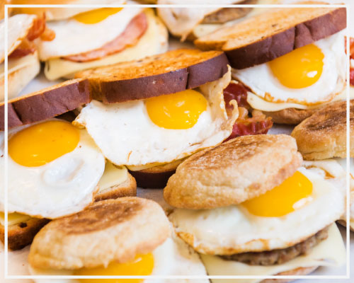 Cafe Breakfast Sandwiches