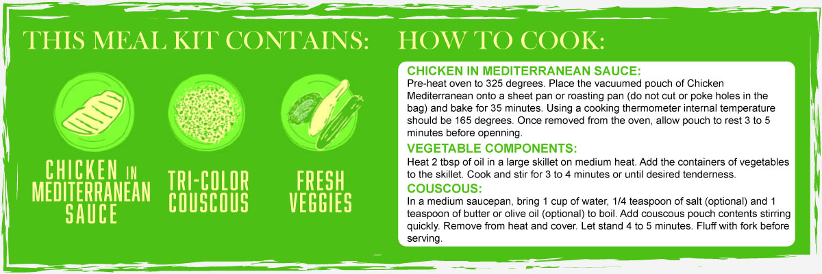 Mediterranean Chicken Contents and Instructions