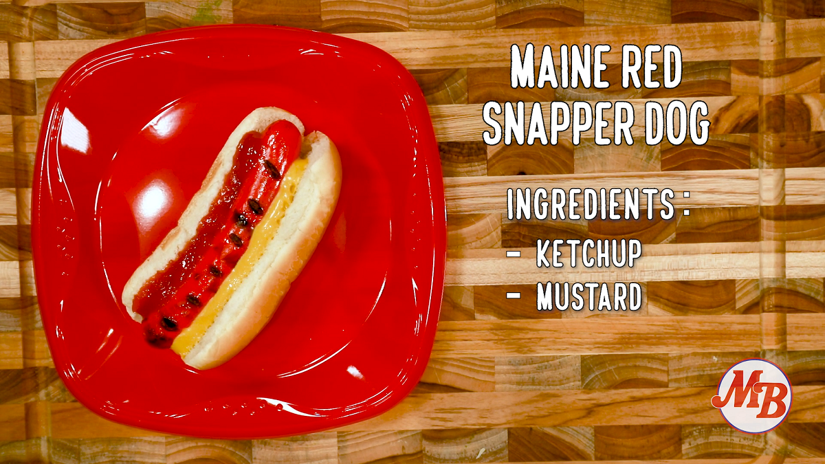 Maine Red Snapper Dog