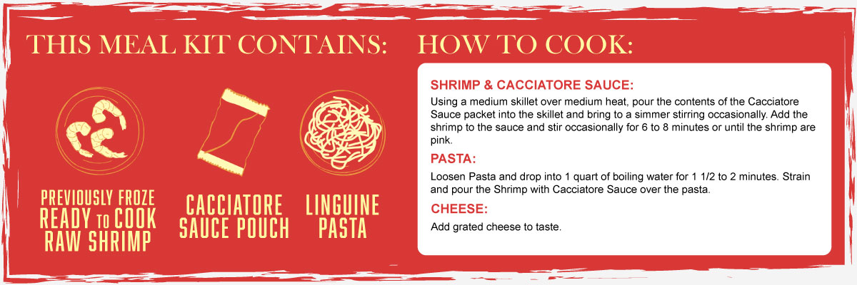 Shrimp Cacciatore Instructions